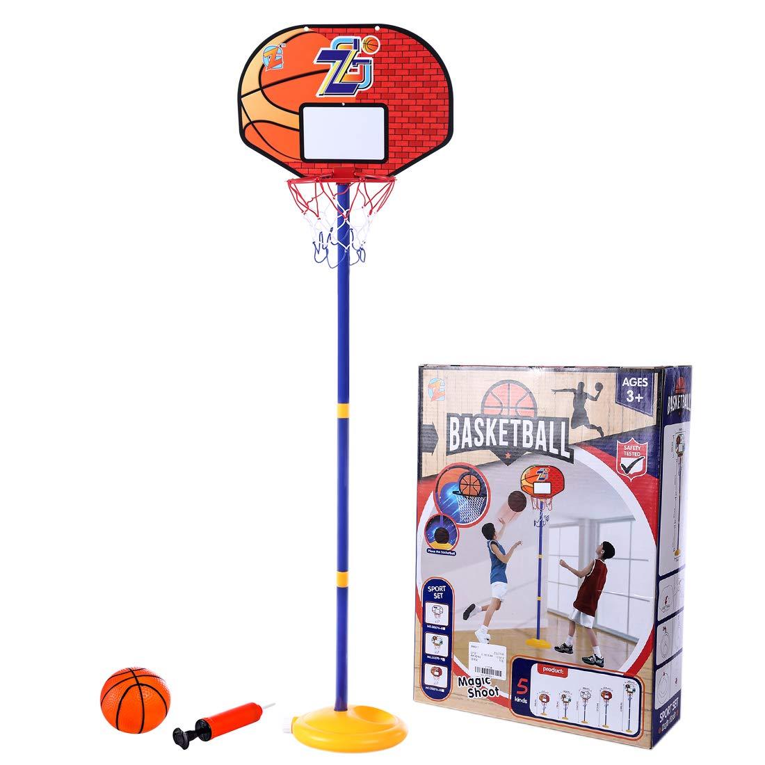 TETAKE Basketballkorb Kinder Tragbar Basketballst/änder Kinder Einstellbare 68-144cm H/öhenverstellbar Basketballkorb mit St/änder mit Ball und Inflator