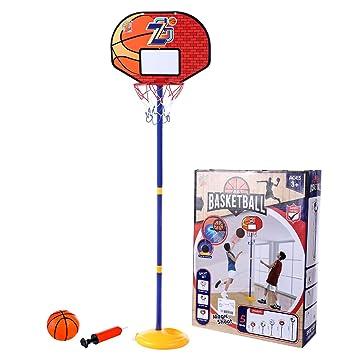 9eb2cb20b0af3 BANDRA Panier de Basket Mini Jeux de Basket Ball Kit Hoop avec Basketball +  Pompe Jouet