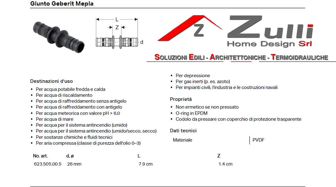 Typ Eurokonus 16 mm x 3//4 Geberit Mepla Direktverschraubung