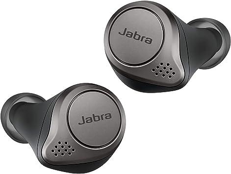 Oferta amazon: Jabra Elite 75t – Carga inalámbrica - Auriculares Bluetooth con Cancelación Activa de Ruido y batería de larga duración, Llamadas y música verdaderamente inalámbricas – Negro Titanio