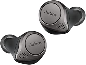 Jabra Elite 75t Earbuds – Active Noise Cancelling Bluetooth Headphones with Long Battery Life for True Wireless Calls and Music – Titanium Black