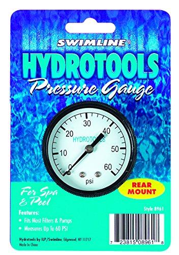 Swimline Rear Mount 60Psi Pool Pressure Gauge -