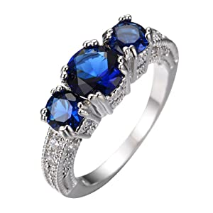 FT-Ring Blue Sapphire Jewelry Wedding Ring For Women Engagement Wedding Bridal Rings (12)