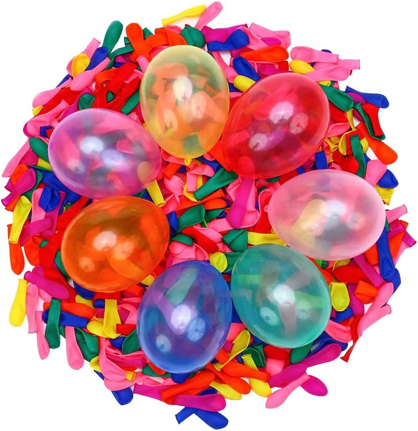 2000pcs Globos de agua Globos de agua de látex multicolores Bomba autosellante para adultos Juegos de lucha contra bombas de agua al aire libre