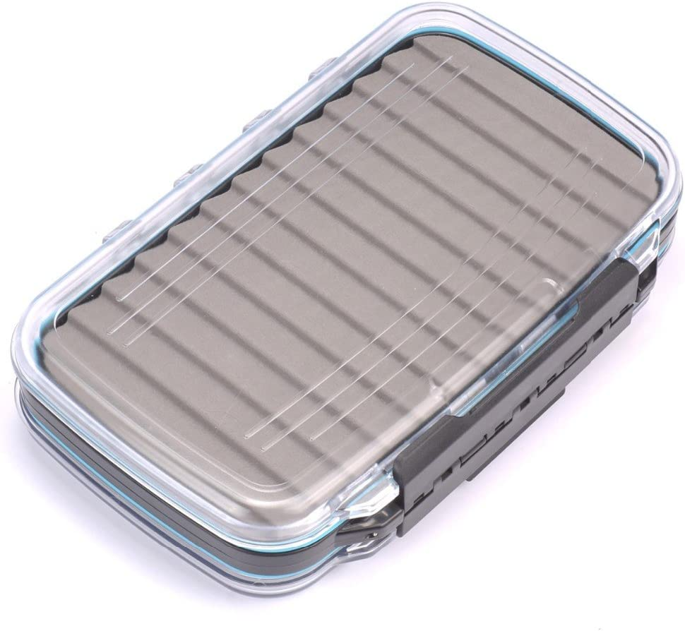 Marca Mosca Caja de Espuma ranurada Impermeable Volar Caja Sase Caixa de plástico Caso de Almacenamiento de Material de Pesca Herramientas de Pesca con Mosca Cebo Modelo 1: Amazon.es: Hogar