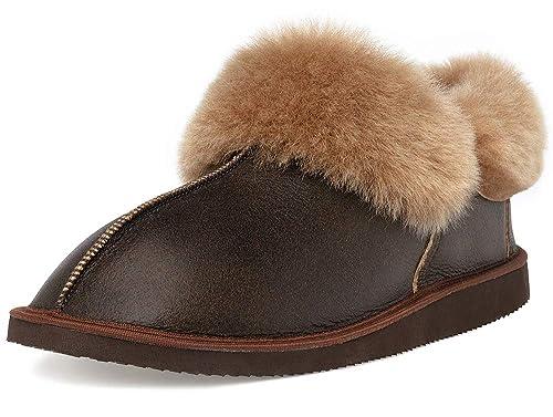ed1daf675ab Ciora Men's Dante Cuff Sheepskin Slippers