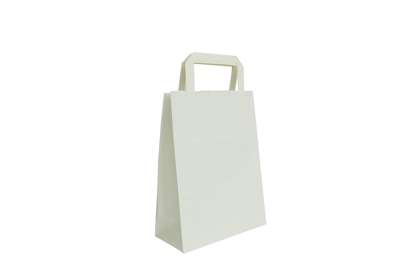 Carte Dozio - Shopper in Kraft color Bianco, maniglia piatta, f.to cm 22+10x29, cf 25 pz CARPAD S.p.A. 7-BCBPP-25PZ