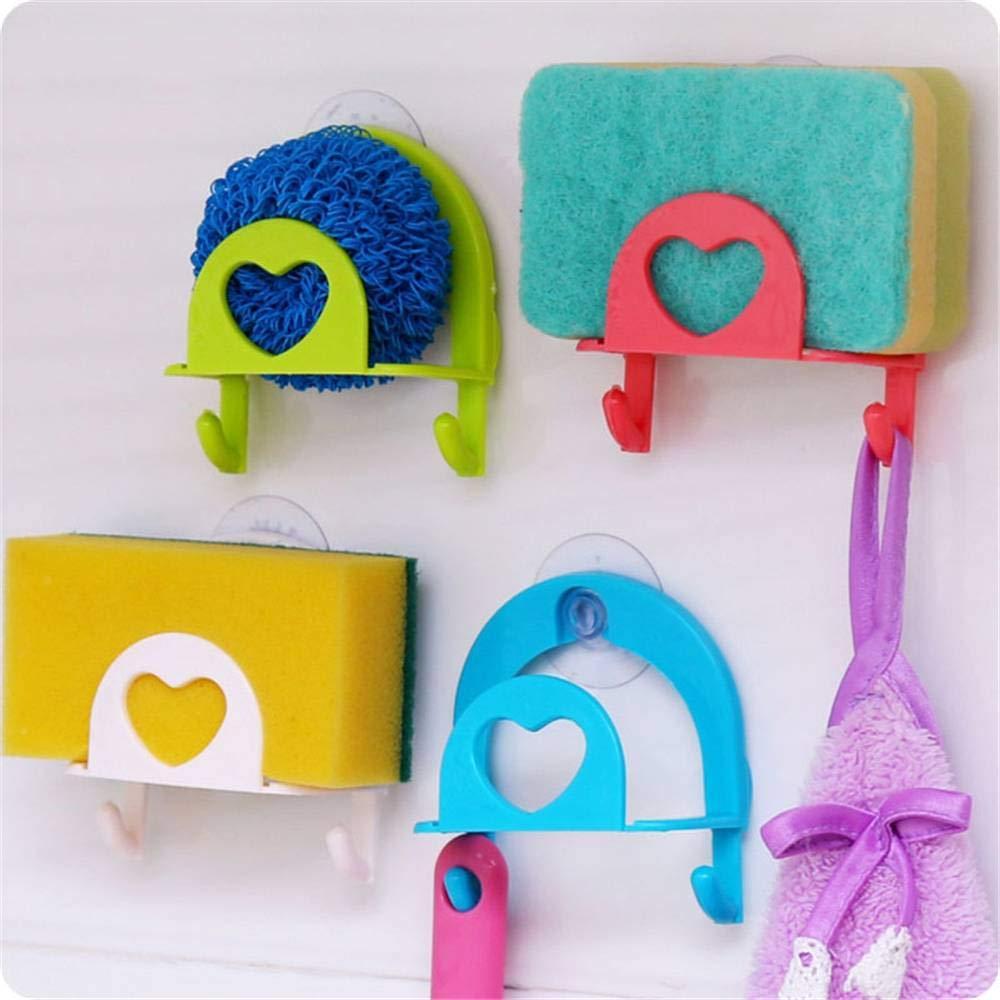 Useful Sponge Holder Suction Cup Convenient Home Kitchen Holder Kit Tools FR