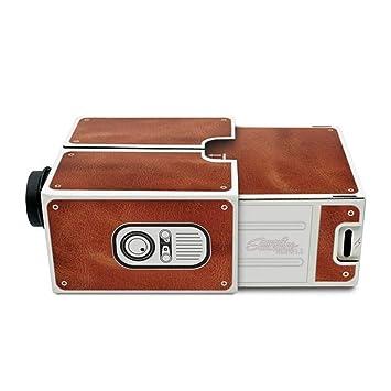 Vococal Portátil DIY Cartón Smartphone Proyector Cine en casa Cine ...