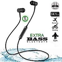 Zoyo Bass Headphones with mic Bluetooth Headset with Mic Earphone with Mic Extra Bass Bluetooth Earphones in-Ear Headphones with Mic Bluetooth Headphones Sports Headphones Wireless Bluetooth.