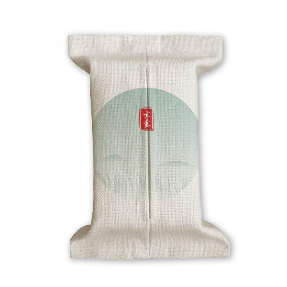 DIYthinker Cold Dew Twenty Four Solar Term Pattern Tissue Paper Cover Cotton Linen Holder Storage Container Gift