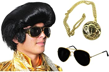 ZOMBIE KIT BIGGIE SMALLS BLACK GANGSTER HAT WITH GOLD MEDALLION FANCY DRESS