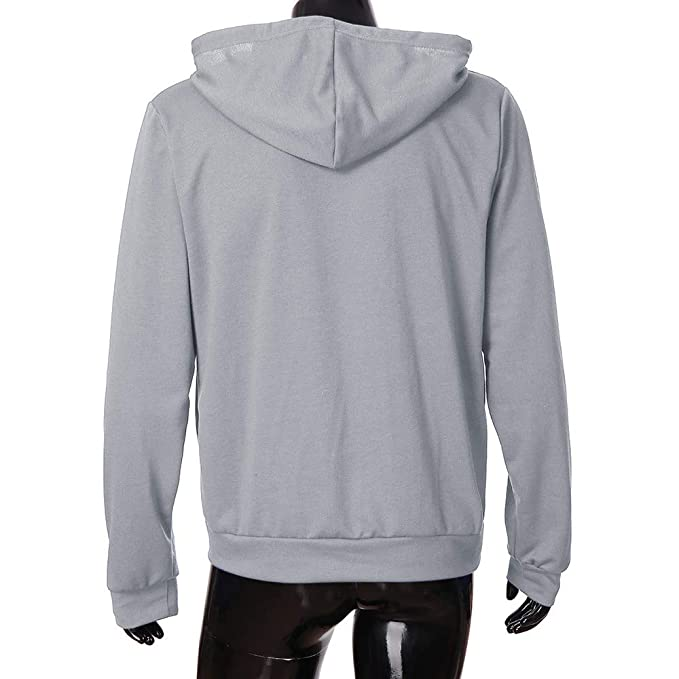 iYBUIA Mens Casual Pure Slim Fit Long Sleeve Zipper Hoodie with Pocket Outwear Blouse at Amazon Mens Clothing store: