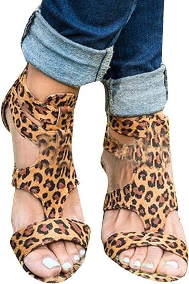 Fineser Women Leopard Print Sandals