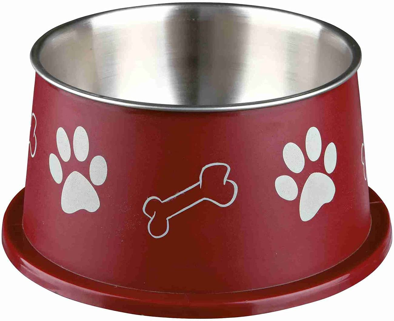 Trixie Long-ear Bowl, Stainless Steel, Plastic Coated, 0.9 L / O 15cm