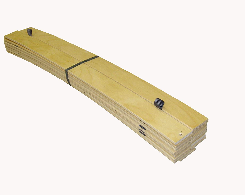 Erst-Holz Moderno Letto//futon in Faggio Laccato con Materasso 100x200 su doghe rigide Curve 60.80-10FLM