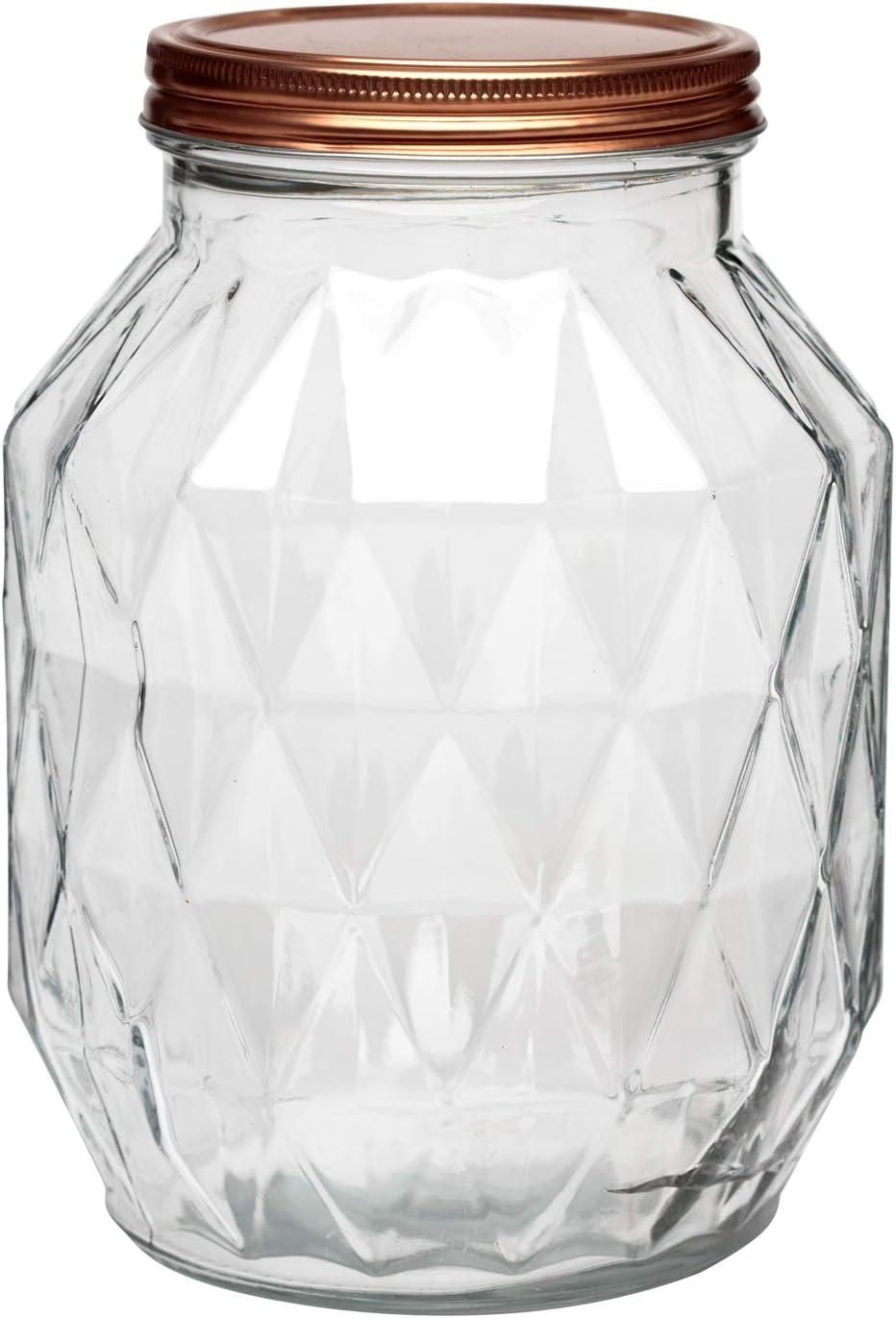 Amici Home Dakota Glass Canister, Large, Copper