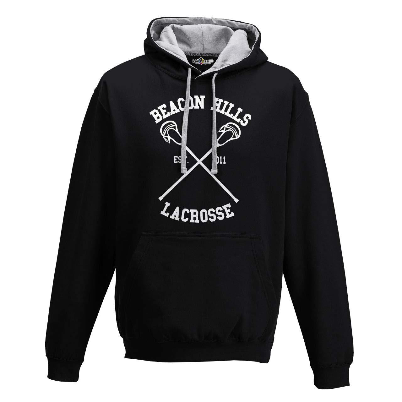 Hajotrawa Mens Drawstring Oblique Zipper Running Pocket Pullover Hooded Sweatshirts