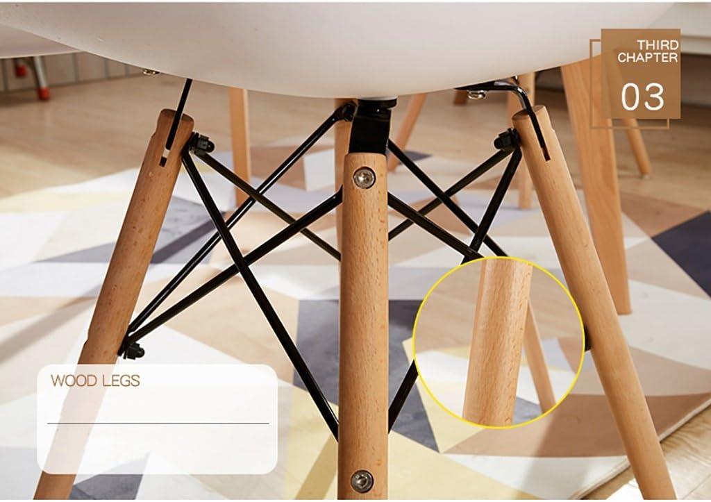 WHY Décoration de la maison Chaise de salle à manger en plastique avec pieds en bois rétro Eiffel Articles ménagers (Color : A) K
