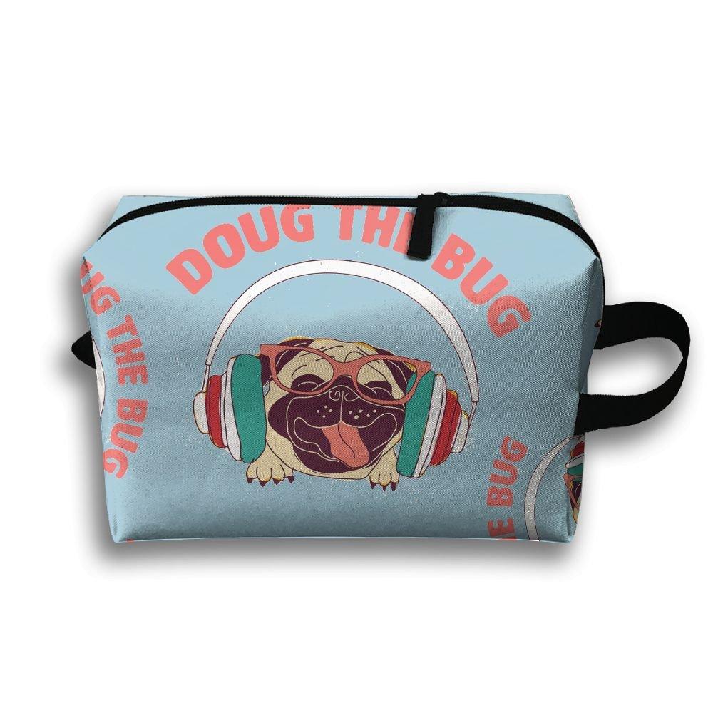 b5fad9521e E4fg Cube Doug The Pug Cartoon Women Men Zipper Travel Cosmetic Bags  Durable Makeup Shaving Kit