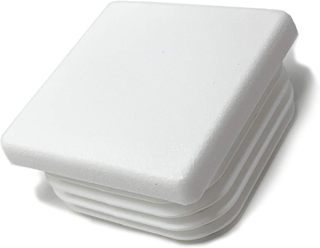 color blanco Tap/ón cuadrado para tubos 10 unidades, 30 x 30 mm, con l/áminas para dimensiones interiores 20 /– 25 mm