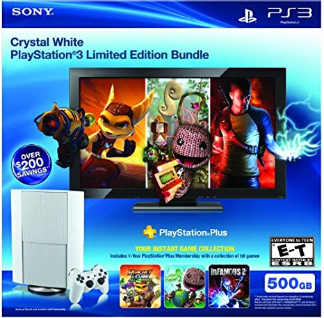 Sony PS3 500GB Classic White Instant Game Bundle - juegos de ...