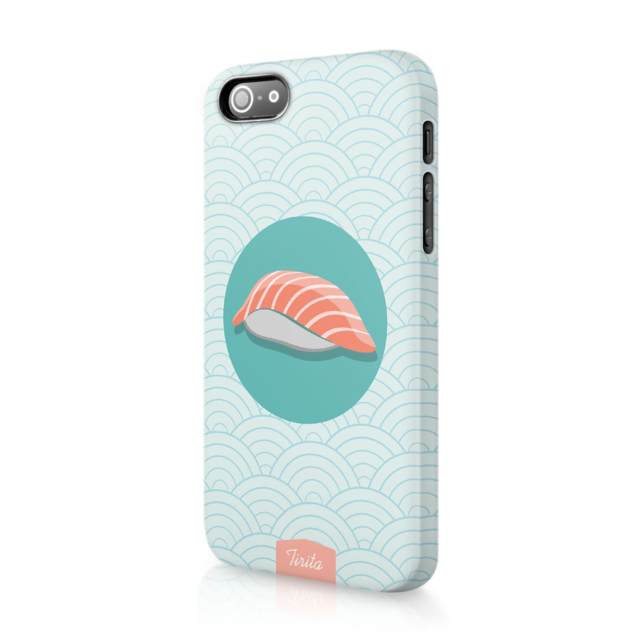 Iphone 5 / 5s / SE Tiritaハードケース電話カバー寿司和食日本流行ファッションギフトプレゼントキュートなデザイン   B01N6WE7DR