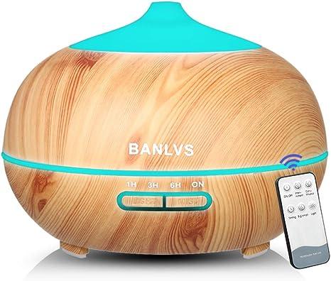 BANLVS Humidificador Aromaterapia Ultrasónico con Mando a ...