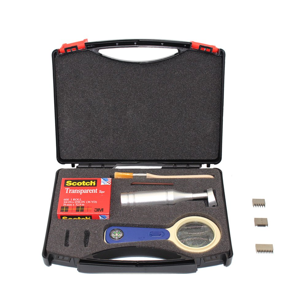 top-tool Newest Cross Hatch Adhesion Tester Cross-cut Adhesion Tester Kits with 1mm/2mm/3mm Blades, Magnifier, Handle, Brush and 3m Tape