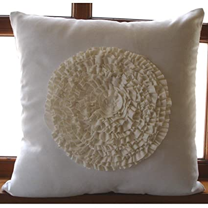 Amazon The HomeCentric Luxury White Pillow Cases Vintage Style Stunning Medallion Pillow Covers
