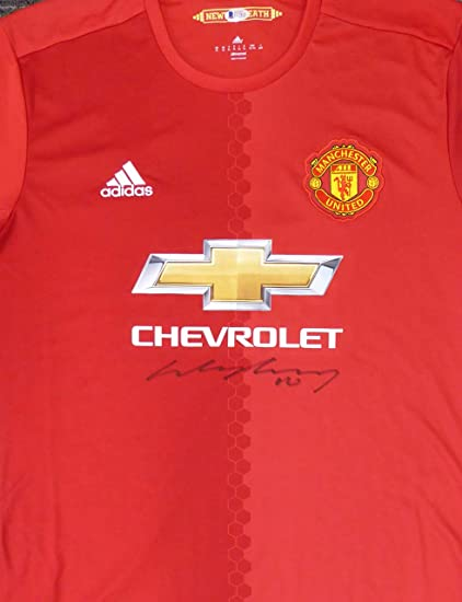 31f0bc8086f Wayne Rooney Autographed Manchester United Adidas Authentic Red Jersey Size  XL Beckett BAS  E17420