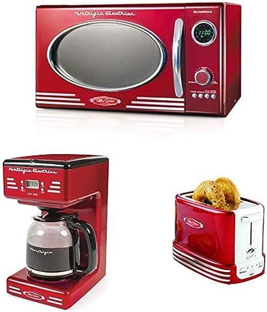 Amazon Com Nostalgia Retro Red Kitchen Appliance Bundle Appliances