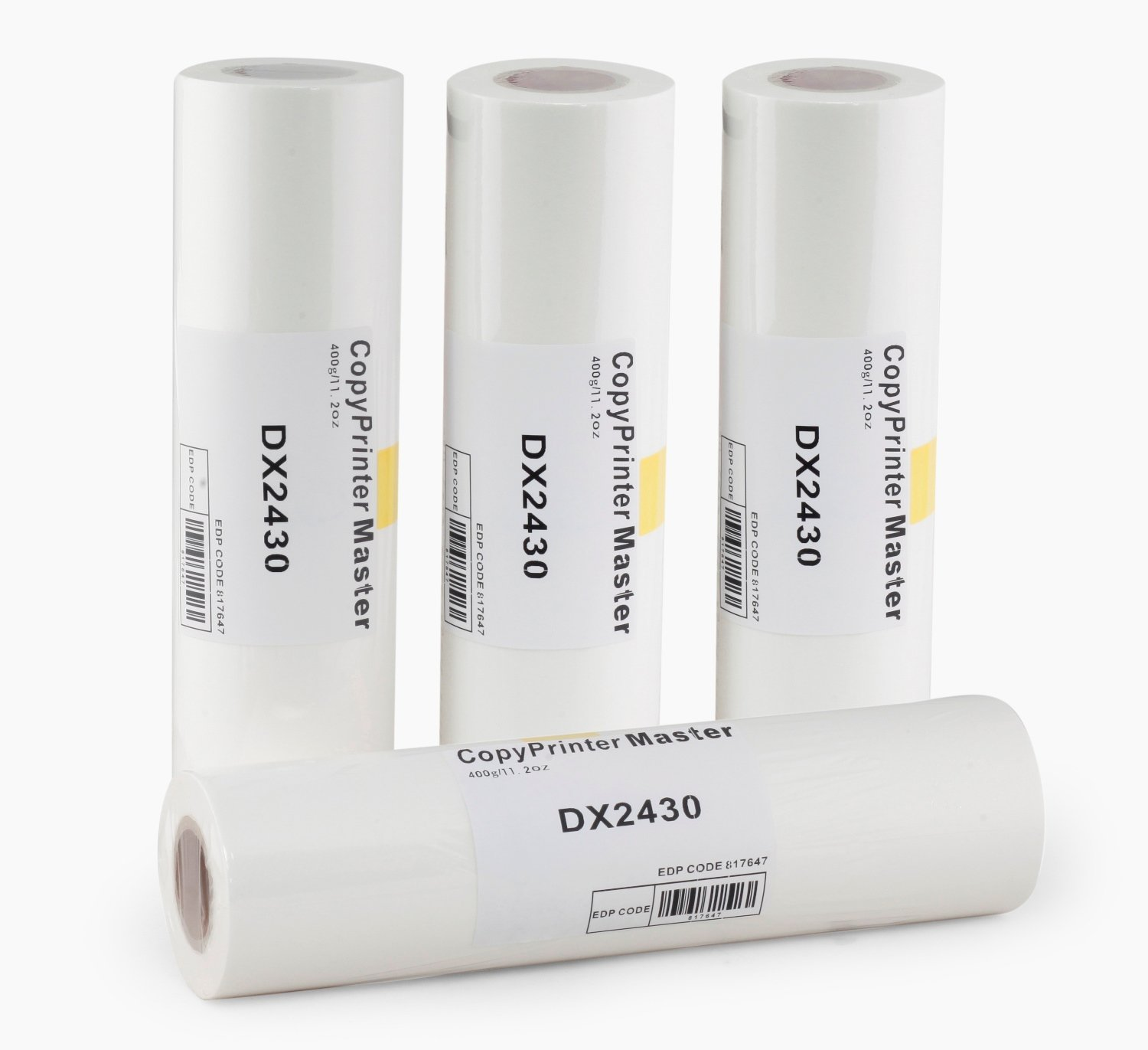 DAIKI DX 2430 B4 Master Roll for Ricoh Copy Printer (White) - Pack of 4  Rolls per Box