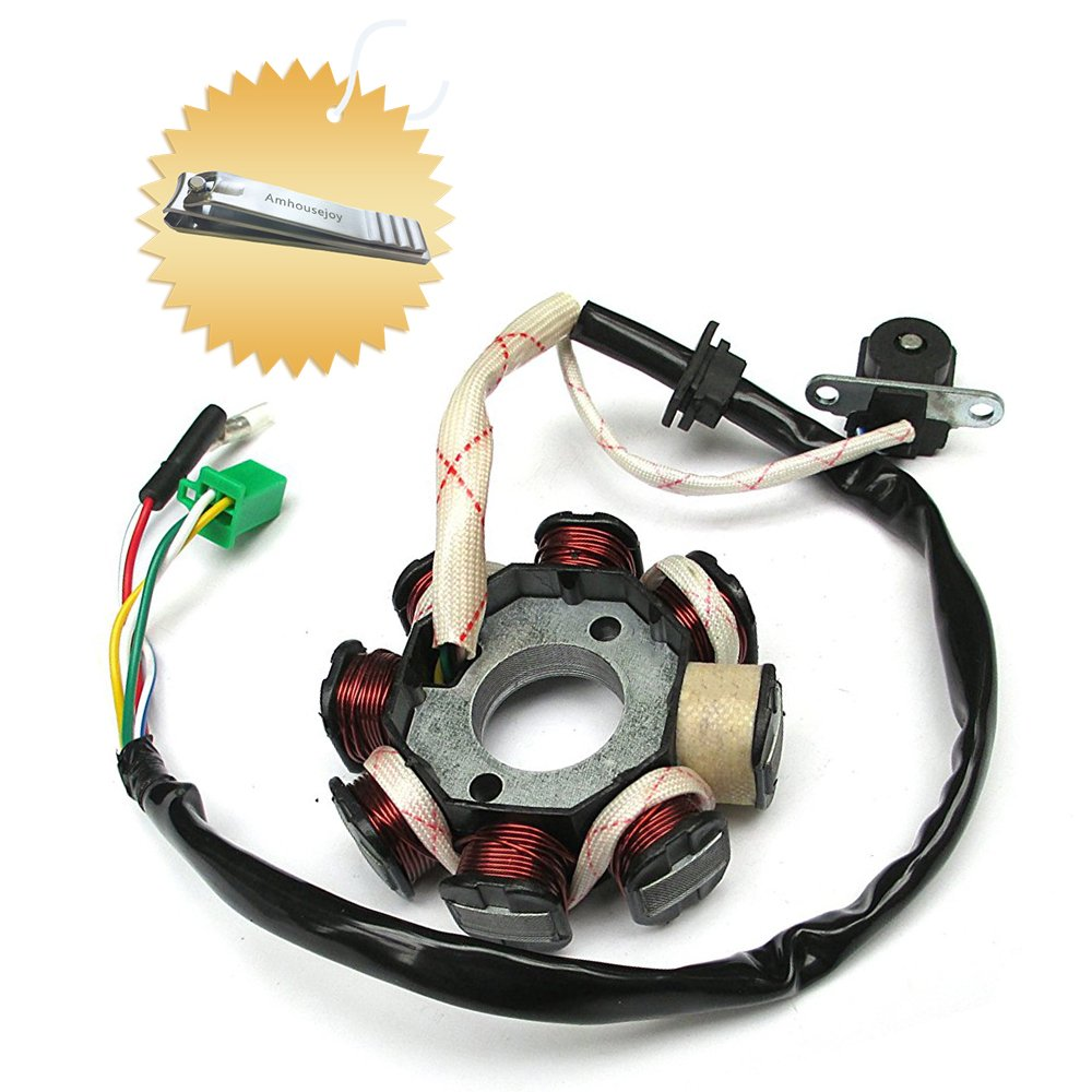 Magneto Stator Ignition Generator 8 Pole Coils For GY6 Motorcycle Scooter Moped 125 150cc Go Kart ATV by Amhousejoy