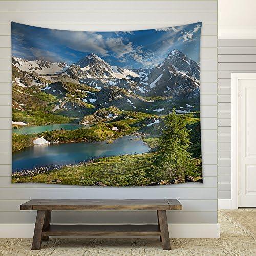 Mountain Lake Russia Siberia Altai Mountains Katun Ridge Fabric Wall