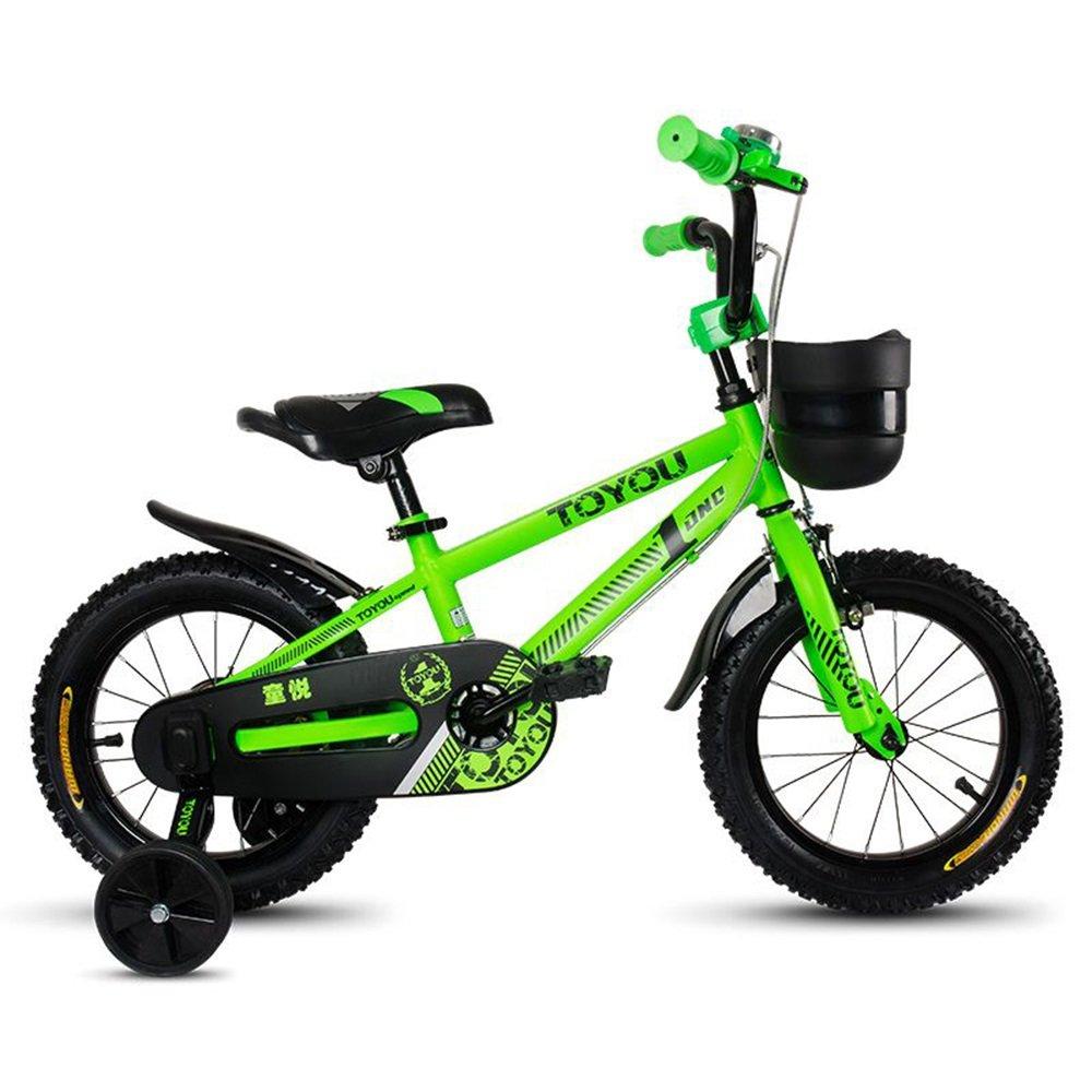 子供用自転車、12/14/16/18インチベビーガールサイクリング、3-10歳の子供ベビーキャリッジ ( 色 : 緑 , サイズ さいず : 105cm ) B078KNTSYN 105cm|緑 緑 105cm