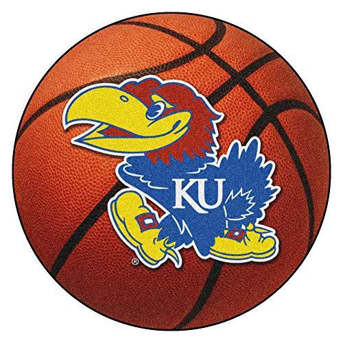 FANMATS NCAA University of Kansas Jayhawks Nylon Face Basketball Rug (Mat Jayhawks Kansas)
