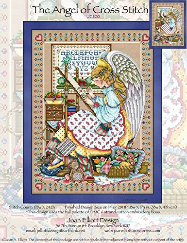 The Angel of Cross Stitch (JE200) Cross Stitch Chart Angel Cross Stitch Chart