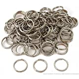 Lot of 2400 Wholesale Nickel-Plated Split-Rings for pet id tags 1-5cm-15mm
