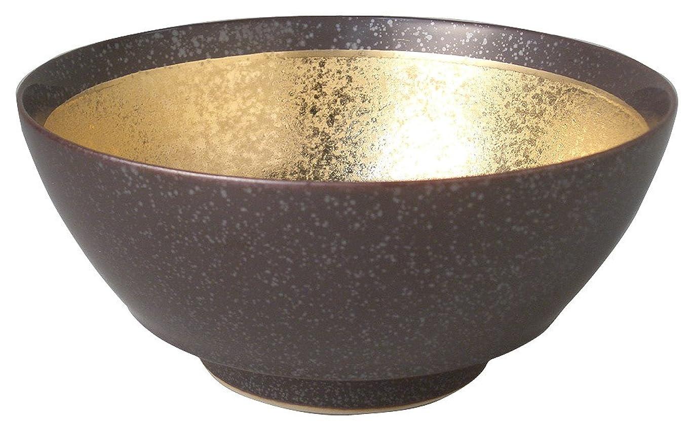 半導体ラリーベルモント採用する多用丼 大 黒釉うどん鉢(大) [21.5 x 9.8cm] 和食器 料亭 旅館 飲食店 業務用