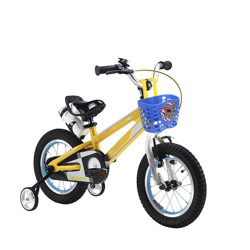 Mini-Factory Kids Bike Basket, Cute Cartoon Pattern Bicycle Handlebar Basket for Boy (Blue)