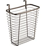 InterDesign Axis Over the Cabinet Wastebasket Trash Can or Storage Basket for Kitchen - Bronze