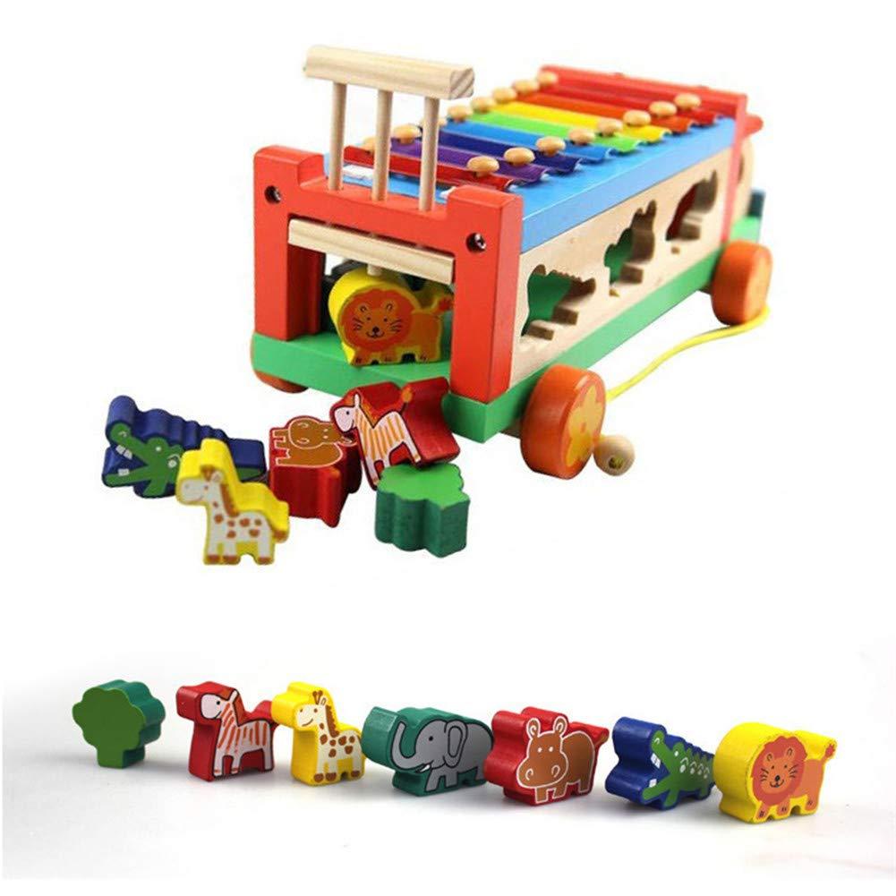 Jouets Belle Remorque Tracteur Bois Puzzle Ellepigy En Y76fgyIbv