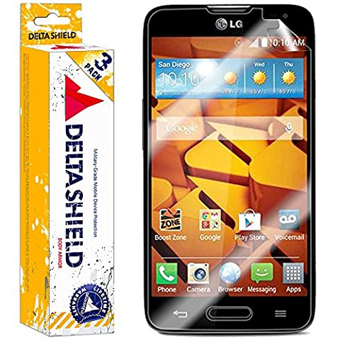 [3-PACK] DeltaShield BodyArmor – LG Realm Screen Protector – Premium HD Ultra-Clear Cover Shield with Lifetime Warranty Replacements – Anti-Bubble & Anti-Fingerprint Military-Grade (Disney Lg Realm Cases)