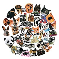 Cute Cat Dog and Dinosaur Animals Stickers Waterproof Water Bottle Skateboard Decorative Stickers for Girls and Boy