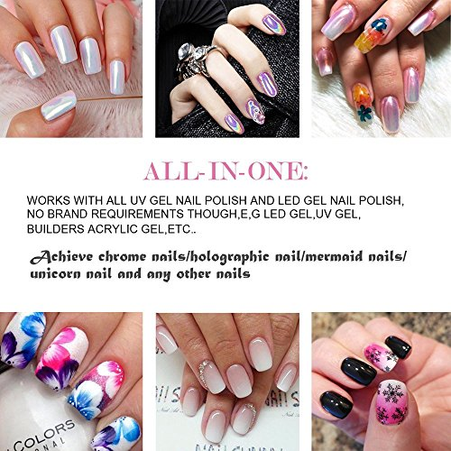 PrettyDiva Gel Nail Polish Base and Top Coat Set Soak Off UV LED Gel Nail Lacquer (Base and No Wipe Top Coat) by Pretty Diva (Image #5)