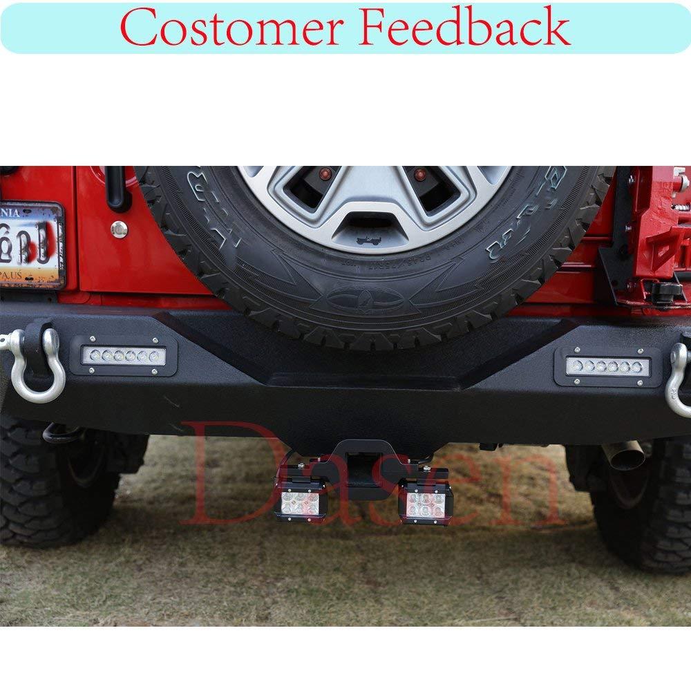 Dasen Tow Hitch Receiver Mount Bracket w//2x 18W 3 Dual LED Work Lights Pod Backup Rear Reverse Fit Toyota Tacoma//Tundra//4Runner//FJ Cruiser//Land Cruiser