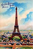 Paris France French Eiffel Tower Vintage European Travel Collectible Wall Decor Poster Advertisement Print. Measures 10 x 13.5 inches