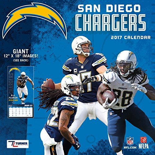 "Turner Licensing Sport 2017 San Diego Chargers Team Wall Calendar, 12""X12"" (17998011924)"