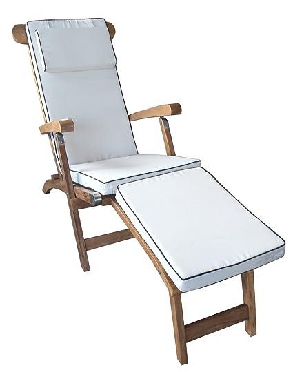 Sensational Chic Teak Cushion For Steamer Chair Am43 Made Only Fits Furniture Theyellowbook Wood Chair Design Ideas Theyellowbookinfo